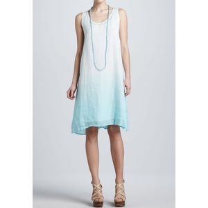 Eileen Fisher ombré linen midi tank dress